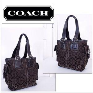 Coach Soho Mia Signature Jacquard & Leather Tote